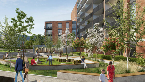 CGI of the courtyard included in the Phase 3 Application